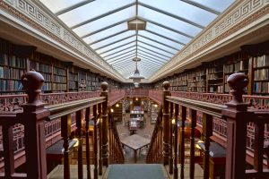 Readers Paradise - Library with a Vaulted Glass Ceiling