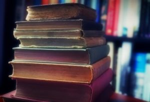 A Readers Treasured Stack of Books