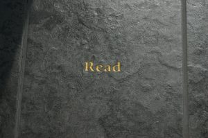 Leather Book Cover Embossed with