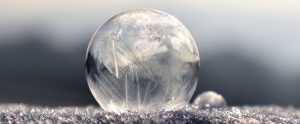 The Wonder of a Frozen Soap Bubble
